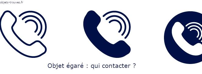 Qui contacter en cas d'objet perdu ?