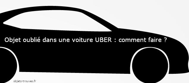J'ai oublié un objet dans une voiture Uber : que faire ?