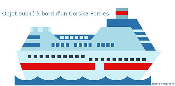 J'ai égaré un objet dans un Corsica Ferries, que faire ?